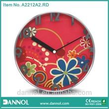 Mirror Number Flower Design 12 Inch Quartz Metal Wall Ladies Clock