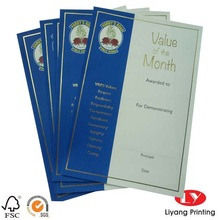 dEGREE Certificate Paper Printing with Gold Foil Stamping (A4 size )