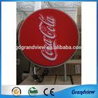 round acrylic light box electric sign board light tube