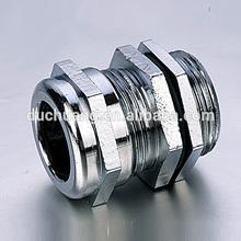 De alta calidad ip68 níquel plateado de latón glándula de cable pg, tipo m