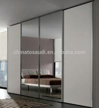 modern simple design mirror wardrobe closet