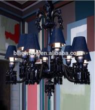 Black chandelier light modern black glass chandelier