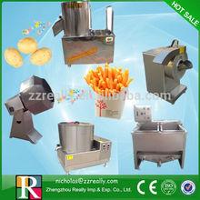 Semi-auto economic small industrial 100kg/h potato crisps making equipment