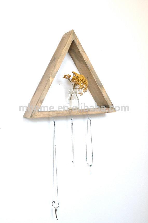 Wood Triangle Shelves: Triangle wood diy shelves. Reclaimed wood ...