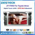 Zestech 7 indash pouces pour toyota verso voiture dvd gps pour toyota verso+ bluetooth usb sd radio tv+gps système de navigation