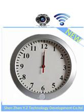 Sensors mini pinhole camera wall clock cctv camera with wifi motion detection alarm