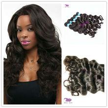 Factory Wholesale 6A Virgin brazilian Hair, elegant and good quality brazilian hair extension