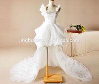 beautiful short front long back wedding dress OW77