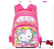 2014 fashionable top quality hello kitty kids trolley school bag
