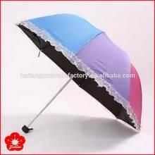 Newest cheapest 3 fold umbrella lace