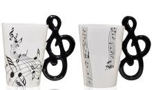 nice design white and black piano mug for music lovers