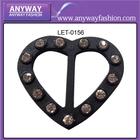 Strap adjustable shoulder beaded heart bra slider buckle