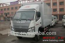 popular China diesel mini box van truck 2 ton van