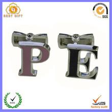 Custom cufflink with initials