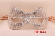 hot sale full rhinestone artificial face mask fashion