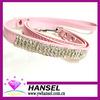 Luxurious crystal diamond Genuine leather/PU pet dog leash