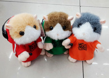 repeat your words! cute colorful talking hamsters electric plush toys