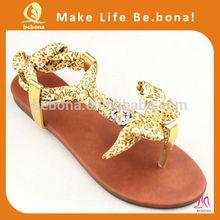 2014 Popular Leopard Brazil Brand Blank Flip Flops Weave Sandals