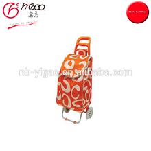 200197 portable folding shopping cart two wheel shopping trolley bag