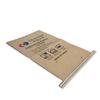 25kg Brown Kraft Paper Packaging Bag For Engineering Plastic Resin with logo print
