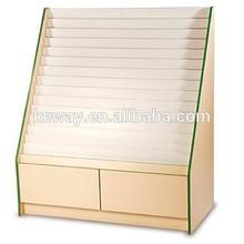 wood book store shelves