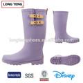 roxo pintado design personalizado botas de água para o trabalho