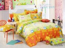 Pure Cotton Orange Cartoon Bedding Bed Sheet for Children