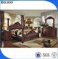 نوعية جيدة من الجلد الأسود الجلد خمر أثاث غرف النوم