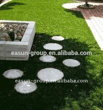 Indoor/outdoor realistic looking plastic artificial grass turf