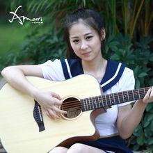 musical instrument acoustic guitar Amari AM-408C,diy guitar kit