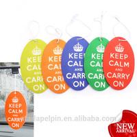 promotional advertising fruit scented hanging custom paper car freshener