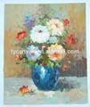 caliente venta de blanco de flores pintura al óleo lienzo venta al por mayor
