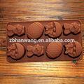 Nicole B0050 3D mini flor coelho e ovos de páscoa projeto de silicone bolo de chocolate moldes