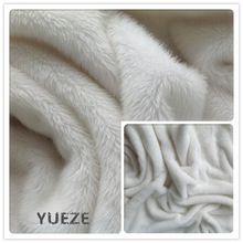 100% polyester knitted plush toy fabric soft toys fur fabric