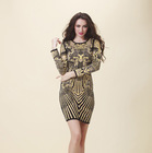 2014 New Arrival Fashion Rainbow Sexy Women Bandage Dress