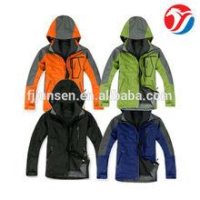 JS700 outdoor clothing wind proof hardshell jacket for men