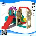 2014 venda quente plástica interior das crianças baloiços e slides