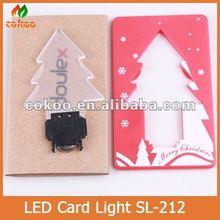 Wholesale Tree Shape Mini Pocket Led Credit Card Light For Holiday With Customized Logo