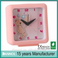 2014 New Bear alarm clock plastic promotion 1 dollar gift items
