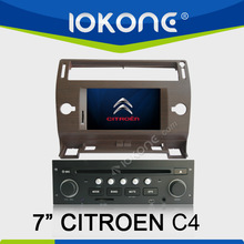 3D UI 7inch In Dash Car dvd player support DVB-T ISDB-T car player with gps for CITROEN C4
