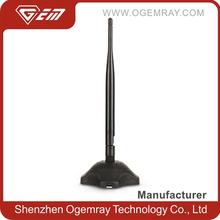 Ogemray GWF-PA06 High Power Wireless USB Adapter 5 dbi antenna Stable Long Range