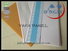 Haining Yafa 250mm*7mm Flat Pvc Ceiling Tiles