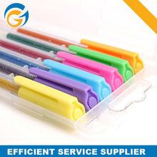 Six Colored Highlight Pen Glitter Gel Pen