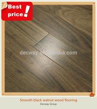 Popular American black walnut smooth wood flooring