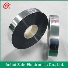 Al Zn metallized bopp film for making ac motor runing capacitor Thickness 8um Width 35mm Margin 0.5mm