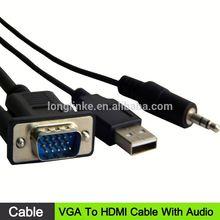 new design rs232 to vga lan to vga converter