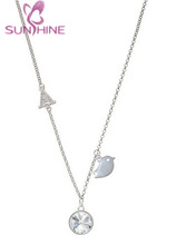 Little Bird Initial - M - Crystal Claire Necklace