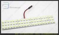 2014 New White Light Panel 63SMD LED 5050 + Interior Bulb +T10 +BA9S Adapter Dome Lamp 12V