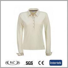 bulk wholesale uk popular ivory polyester cheap women long sleeve t-shirts