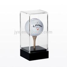 Cuatom Black base clear case acrylic golf ball display case